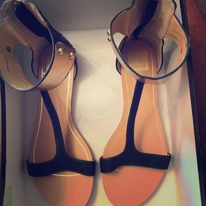 Dolce Vita metal ankle flat sandals size 8